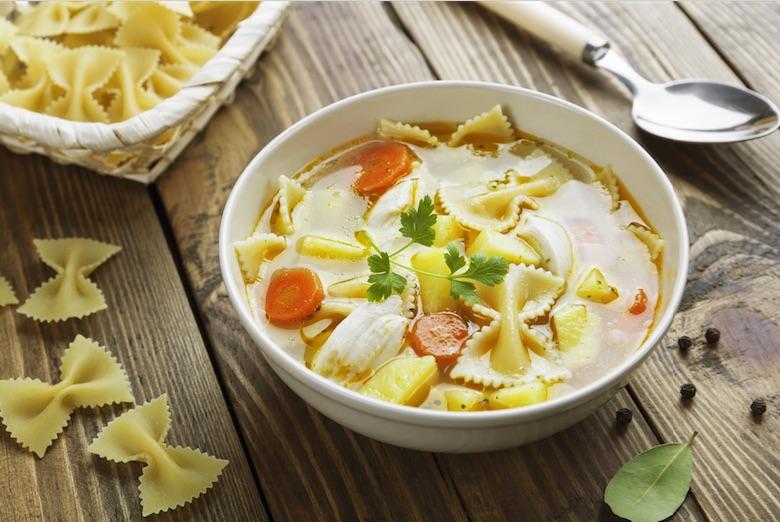 Chicken Noodle Soup with Parmesan
