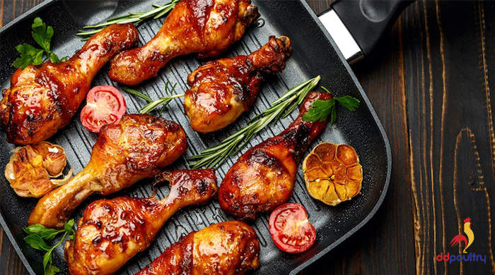 Sticky Drumsticks with Rosemary & Garlic